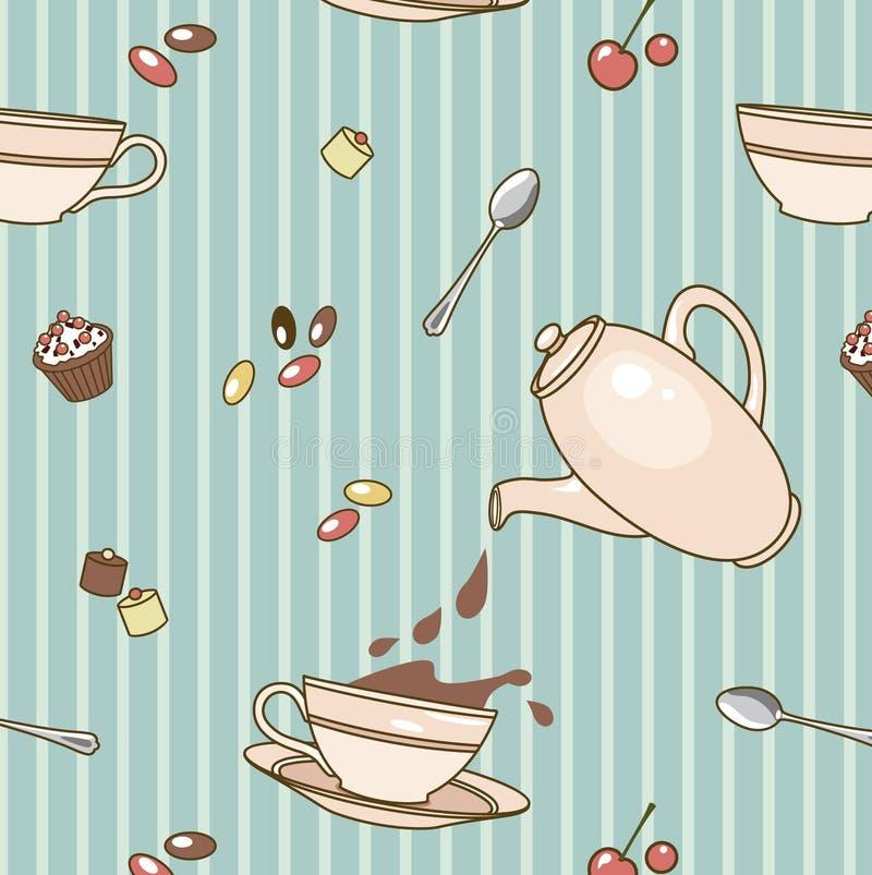 Cacao-patroon stock illustratie