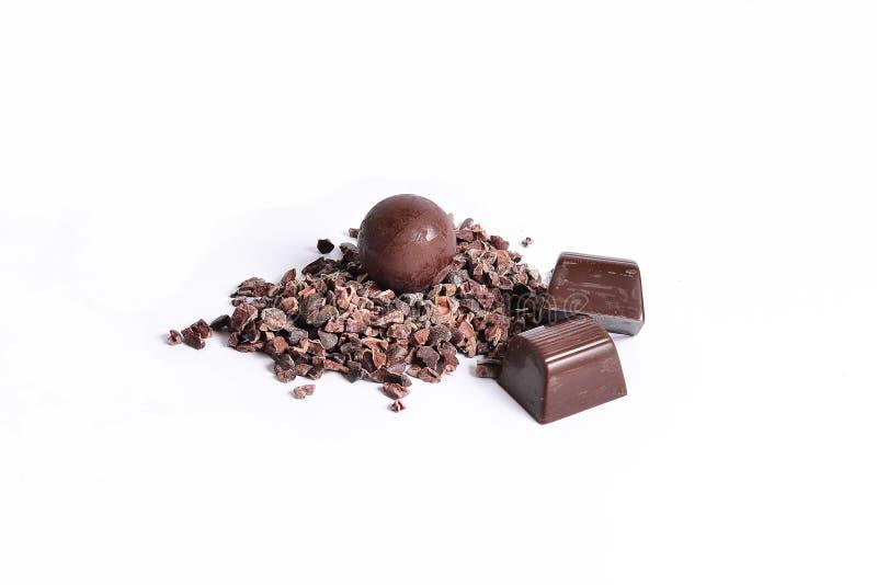 Cacao y chocolate imagenes de archivo