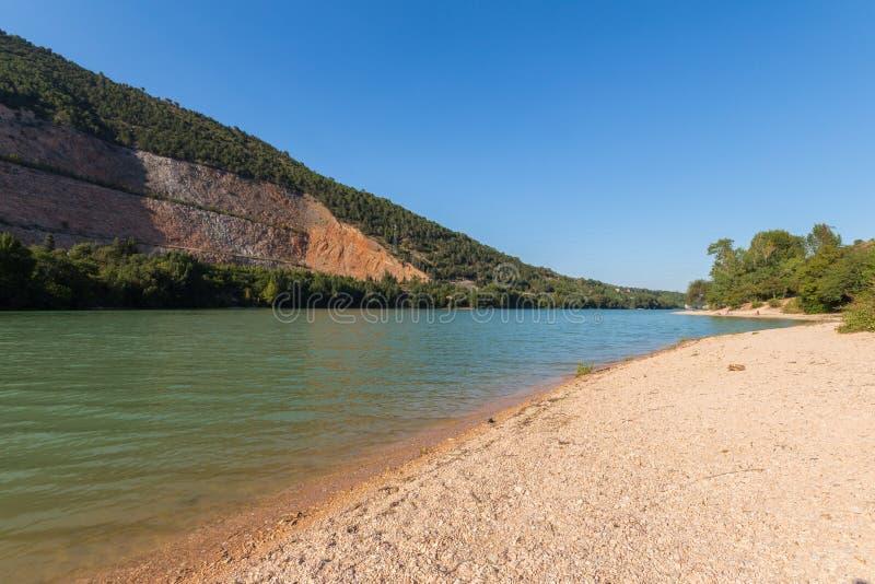 Caccamo湖在意大利 库存照片