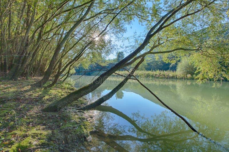 Caccamo湖在意大利 免版税库存照片