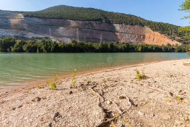 Caccamo湖在意大利 免版税图库摄影
