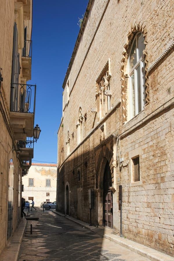 Caccetta宫殿 特拉尼 普利亚 意大利 库存照片