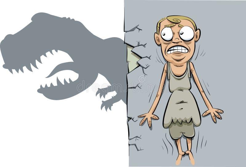 Caccia del dinosauro illustrazione vettoriale