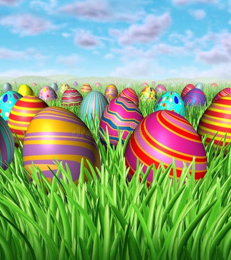 Caccia dell'uovo di Pasqua royalty illustrazione gratis