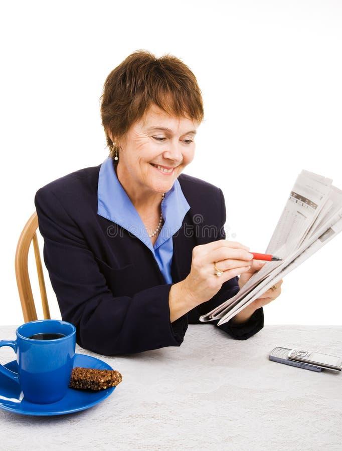 Caccia di job - atteggiamento positivo immagini stock