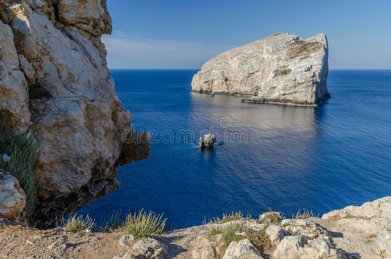 Caccia-Kap, Sardinien stockfotografie