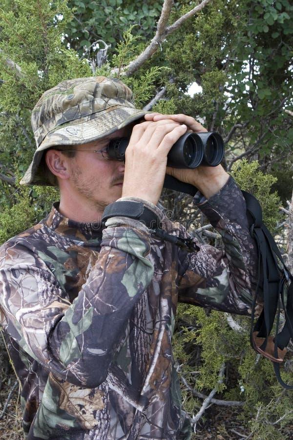 Cacciatore in camo fotografia stock libera da diritti