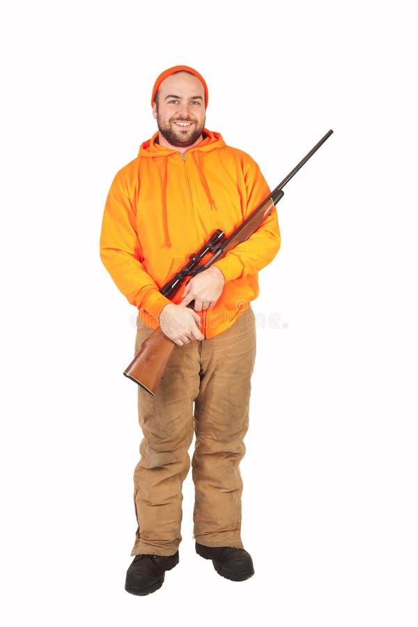 Cacciatore ed il suo Riffle fotografia stock libera da diritti
