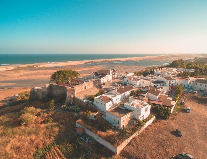 Cacela Velha één van de beste plaatsen in Portugal stock foto's