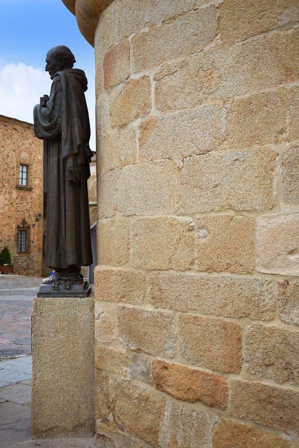 Caceres Concatedral Santa Maria kyrka Spanien royaltyfri bild