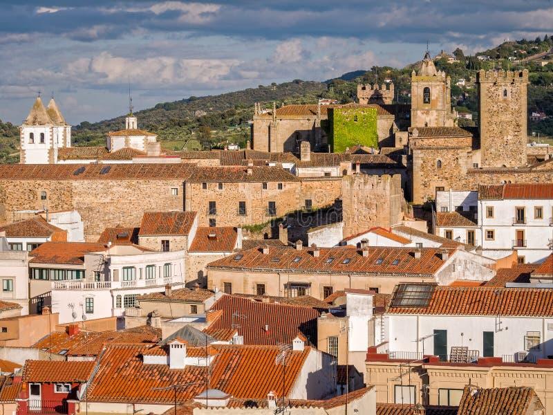 Caceres in Extremadura Spanje royalty-vrije stock afbeeldingen