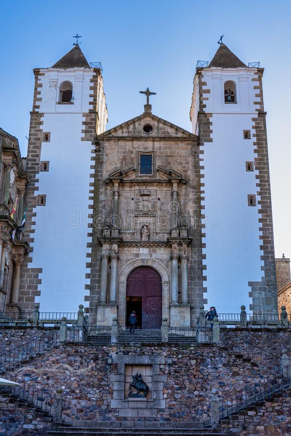 Caceres, Spain - November 08, 2019: San Francisco Javier church in baroque style stock photo