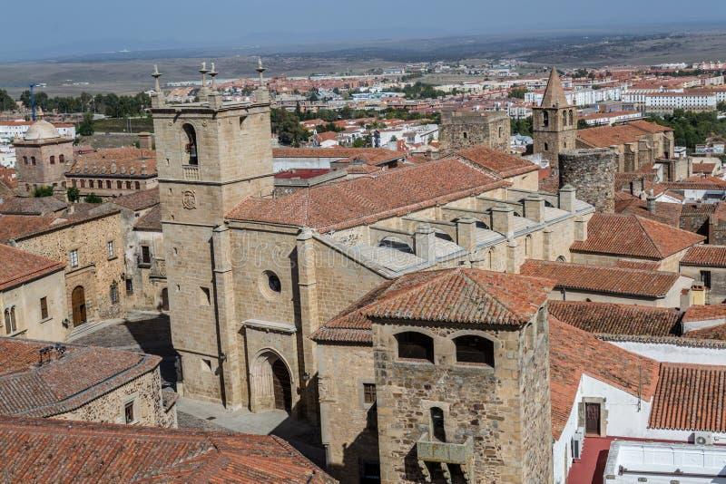 Caceres van de binnenstad (Spanje royalty-vrije stock fotografie