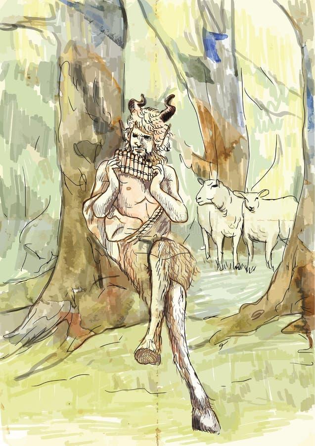 Cacerola stock de ilustración