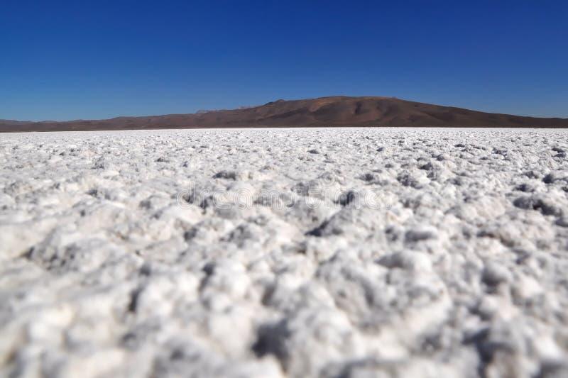 Cacerola de la sal en el desierto de Atacama foto de archivo