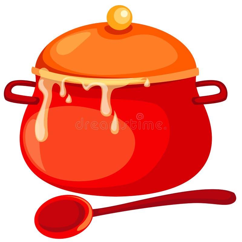 Cacerola de la sopa ilustración del vector