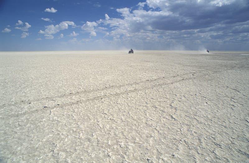 Cacerola de Makgadikgadi, Botswana fotografía de archivo libre de regalías