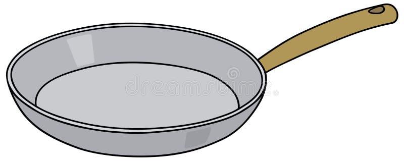 Cacerola del acero inoxidable stock de ilustración