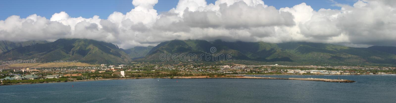 Cacerola granangular de Maui Hawaii fotos de archivo libres de regalías
