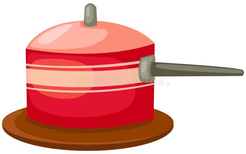 Cacerola roja ilustración del vector