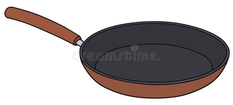 Cacerola roja stock de ilustración