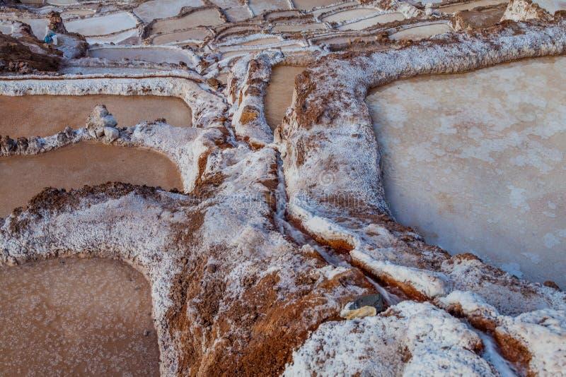 Cacerolas de la extracción de la sal imagenes de archivo