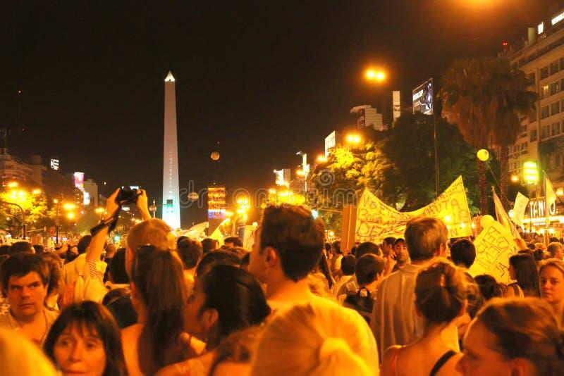 Cacerolazo Demonstation in Buenos aires royalty-vrije stock fotografie