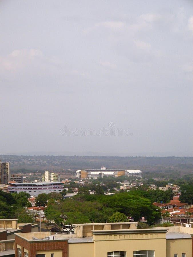 Cachamay足球场,奥尔达斯港,委内瑞拉 免版税库存图片