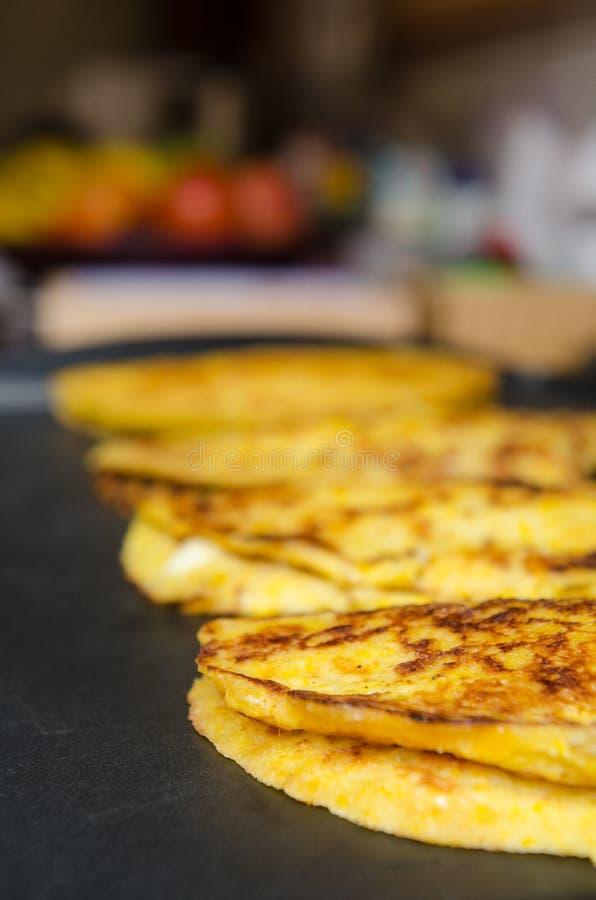 Cachapa,典型的委内瑞拉食物 库存照片