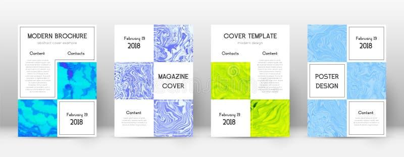 Cache abstrait Grand calibre de conception Affiche d'affaires de marbre de Suminagashi Grand cov abstrait à la mode illustration stock