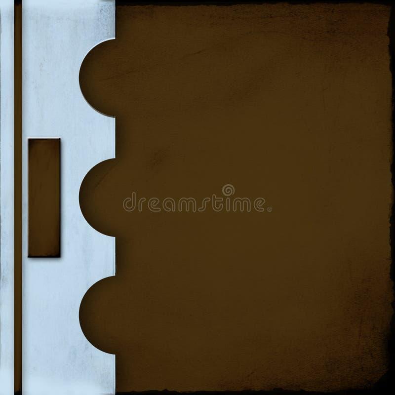 Cache bleu et brun de cahier avec l étiquette
