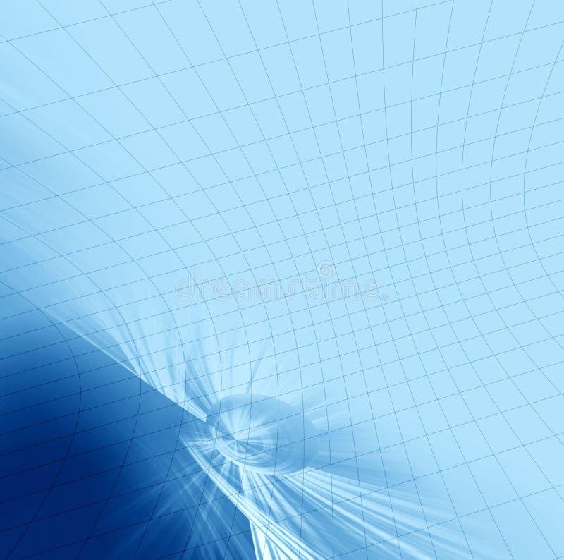 Cache d'abstraction avec le réseau illustration de vecteur