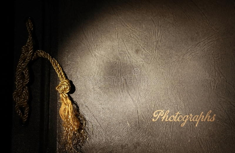 Cache d'album photos image stock