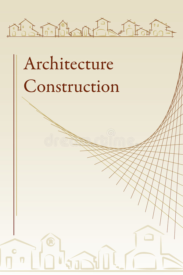 Cache de brochure - architecture illustration stock