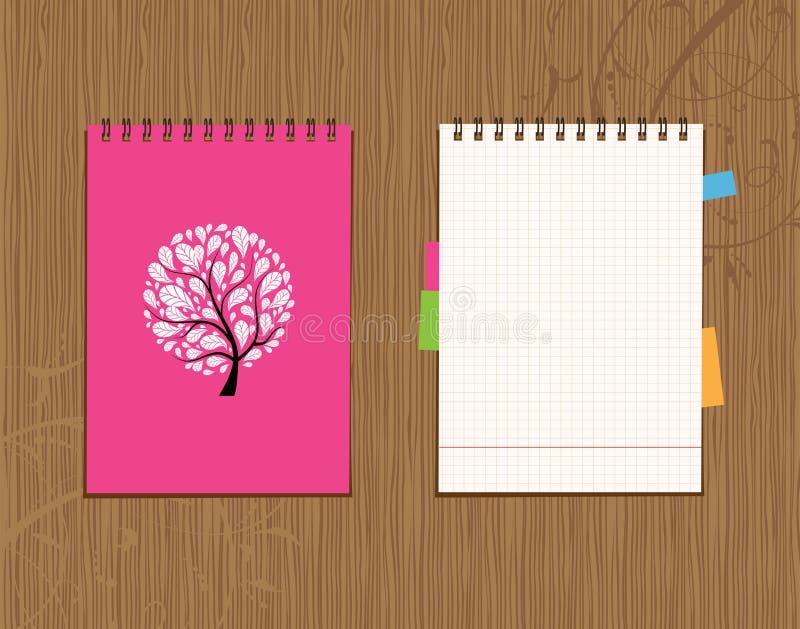 Cache de cahier et conception de page illustration stock