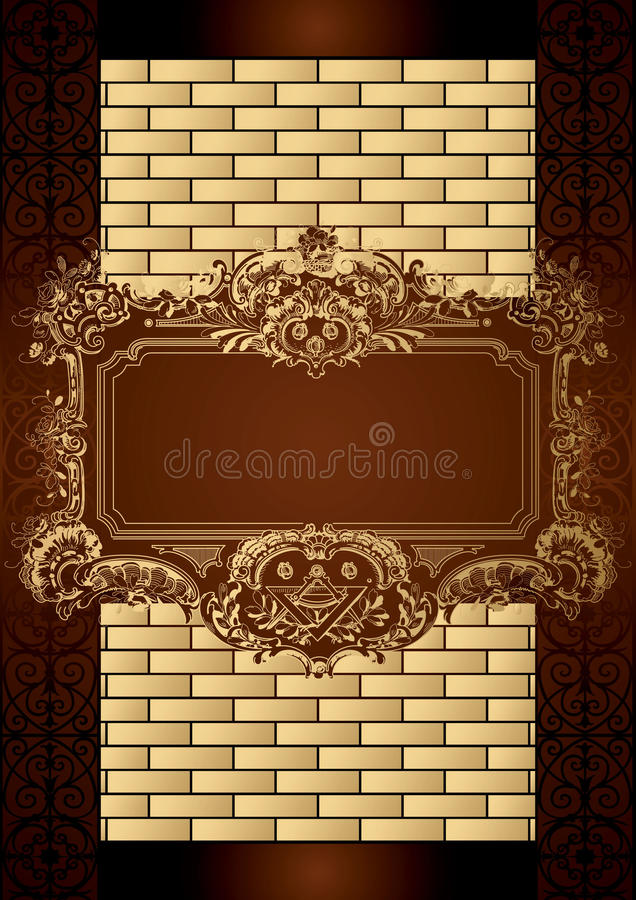 Cache de carte de boîte à chocolat illustration stock