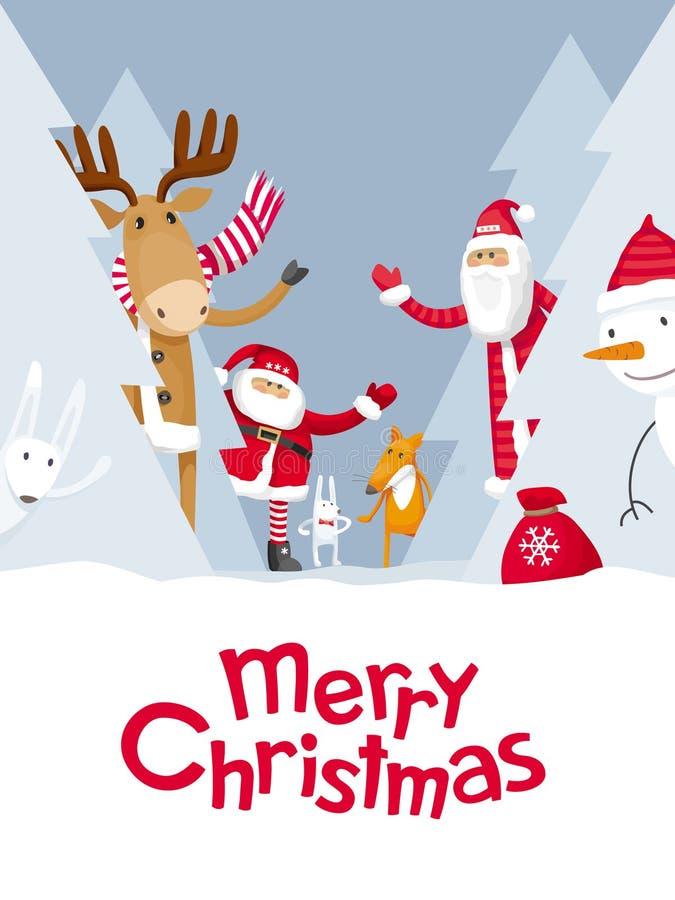 Cache-cache de Joyeux Noël illustration de vecteur