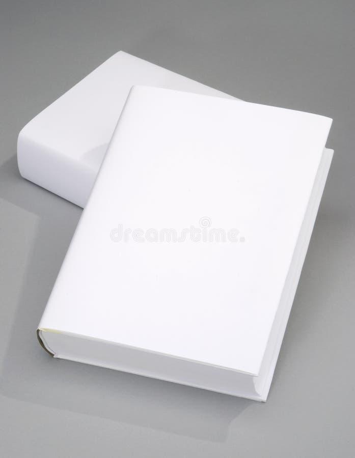 Cache de livre deux en blanc photographie stock libre de droits