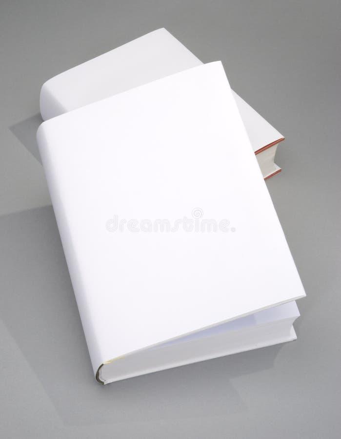 Cache de livre deux en blanc photos libres de droits