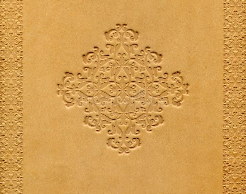Cache de livre en cuir photo stock