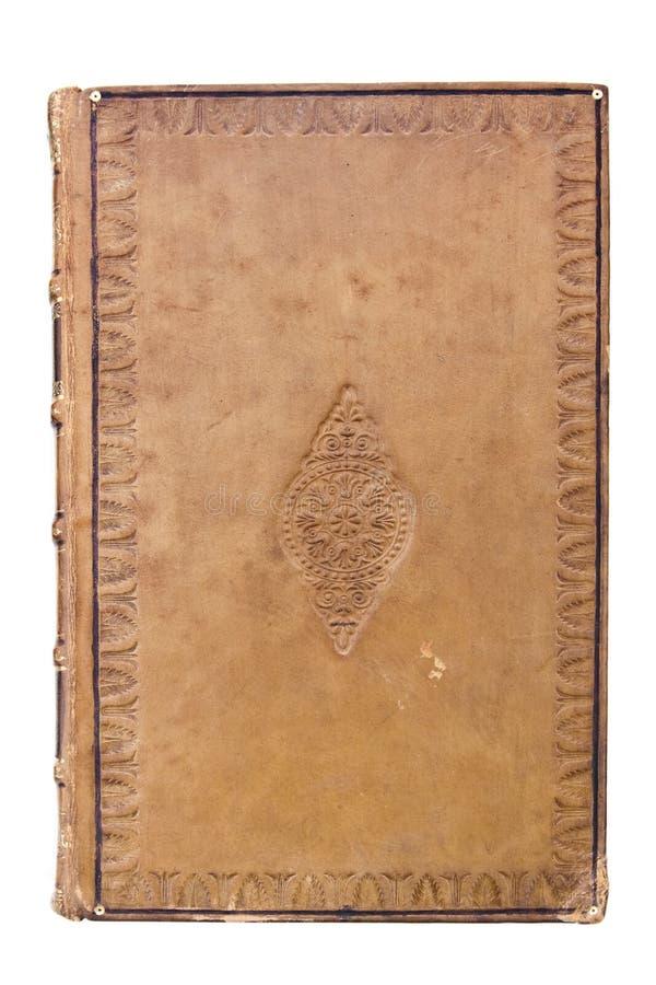 Cache de livre en cuir antique photographie stock libre de droits