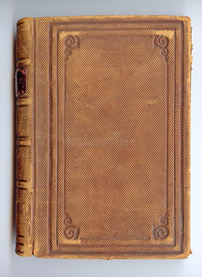 Cache de livre en cuir antique photographie stock