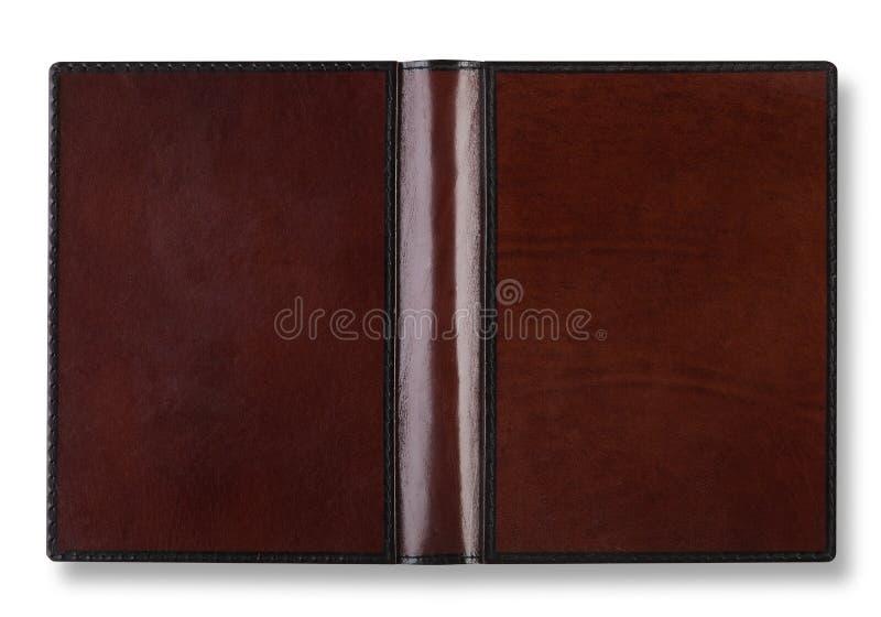 Cache de livre en cuir avec la rotation photos stock