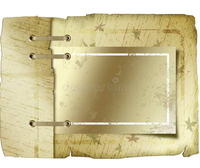 Cache de livre lacé par antiquité illustration de vecteur