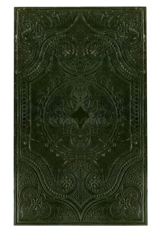 Cache de livre noir antique photographie stock