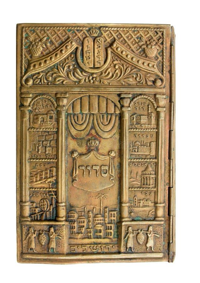 Cache en bronze de Siddur de cru utile pour le fond photo libre de droits