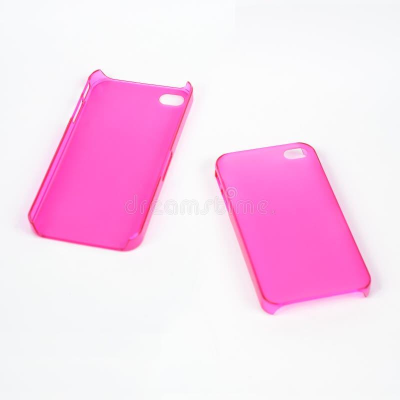 Cache rose de téléphone portable photo stock