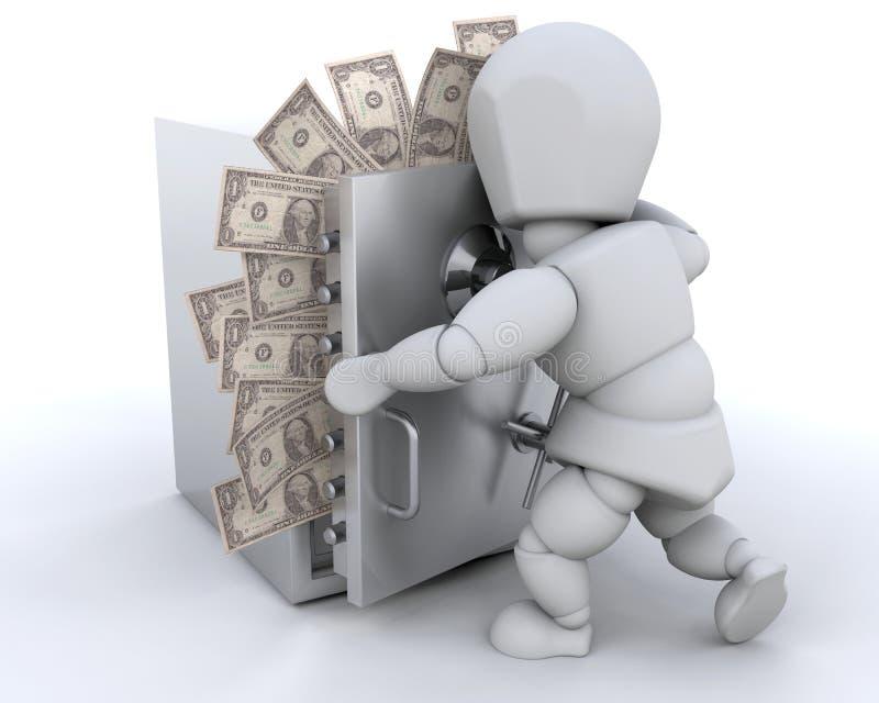 cacher d'argent illustration de vecteur