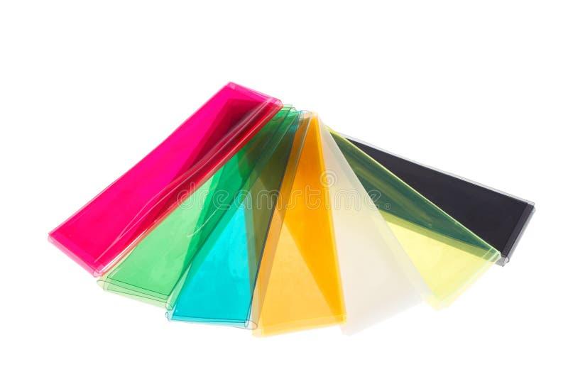 Caches de plastique de couleur photo libre de droits