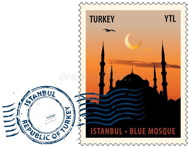 Cachet de la poste d'Istanbul illustration libre de droits
